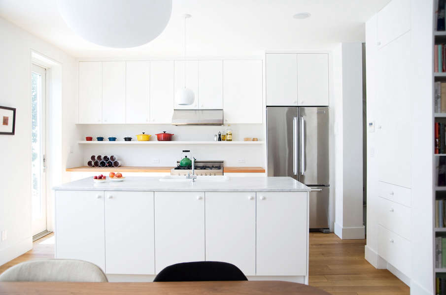 Elizabeth Roberts Carrara Marble Kitchen Fort Greene Countertop  Countertops White White Cabinets With Marble Countertops R64