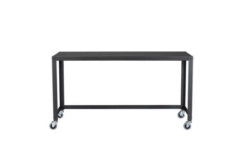 cart carbon rolling console table