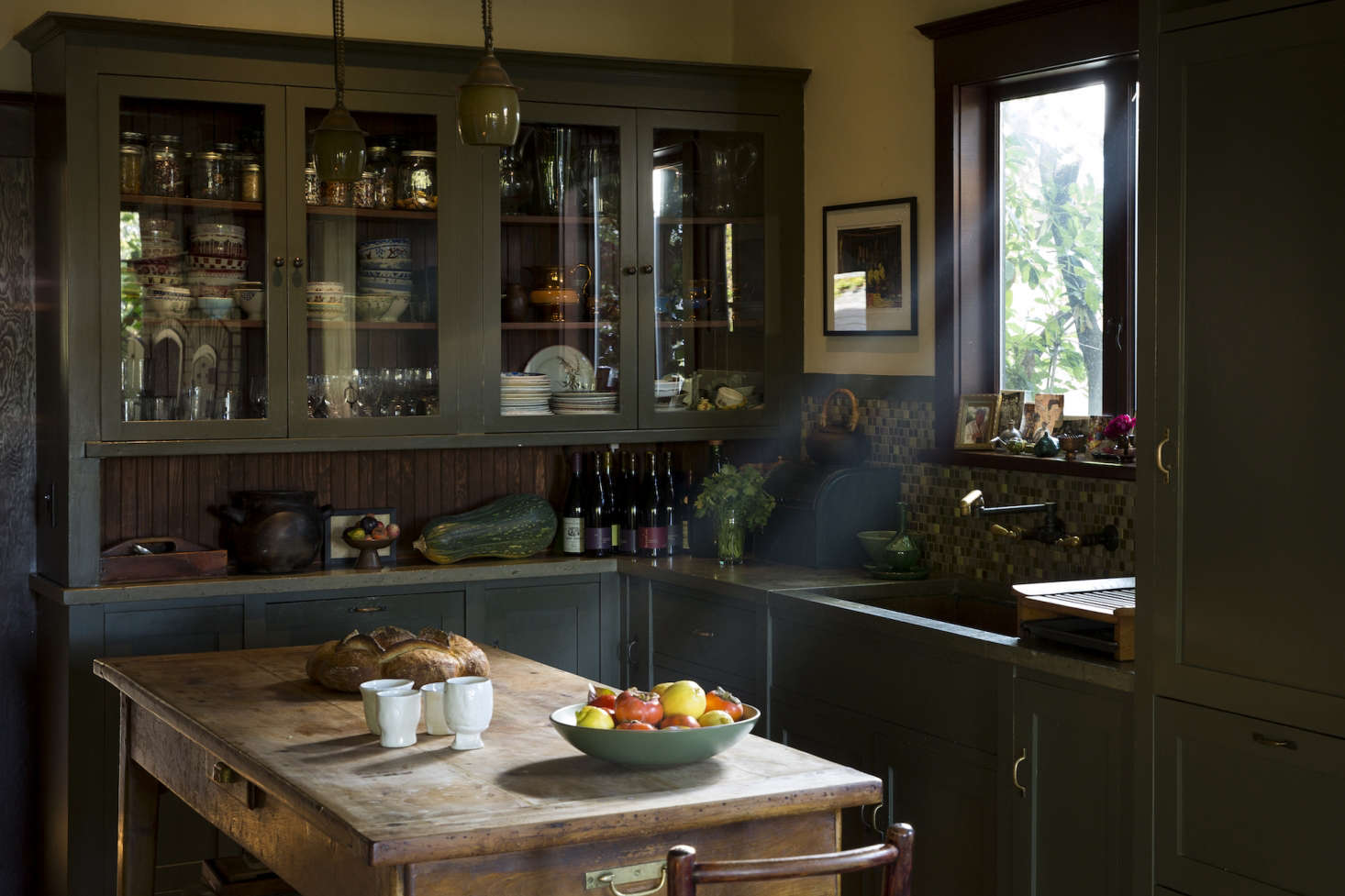 Ordinaire Green Craftsman Kitchen Berkeley Alice Waters