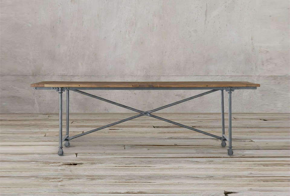 Restoration Hardwareu0027s Flatiron Rectangular Dining Table Has A Reclaimed  Elm Top And Is Available In A