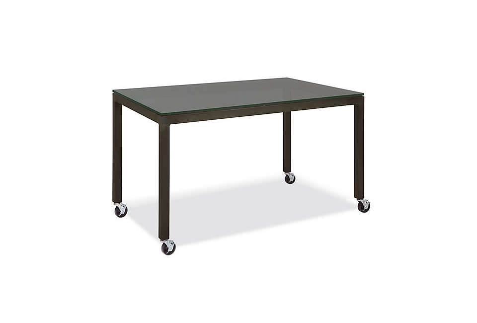 table on wheels. room \u0026 board parsons table with casters on wheels l