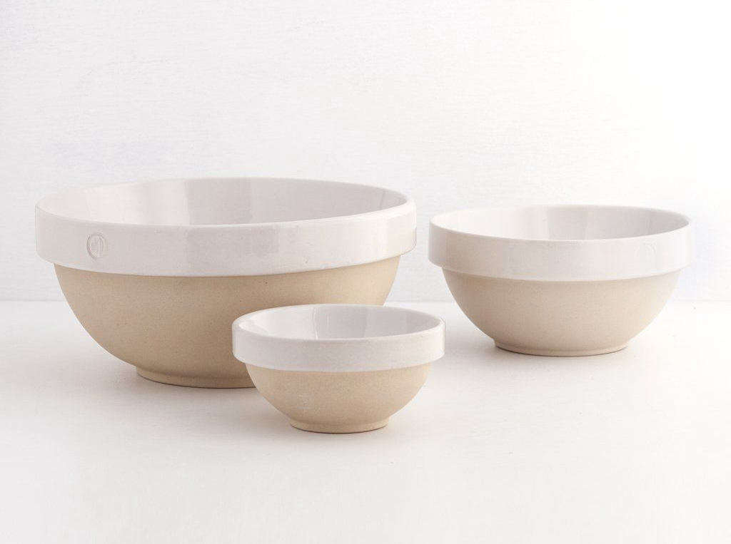 Oven-to-table French Nesting Bowls by Poterie Digoin; $0 at Shed.