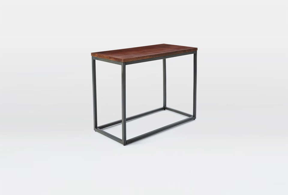 small side tables for living room canada narrow table sofa uk west elm box frame with shelves