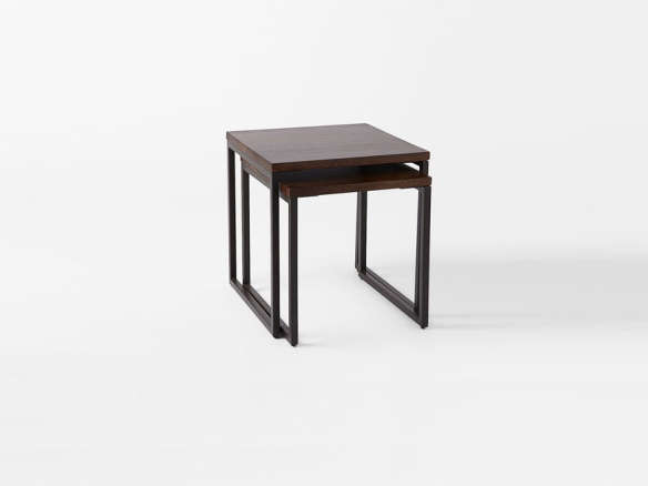 Box Frame Nesting Tables Wood Top