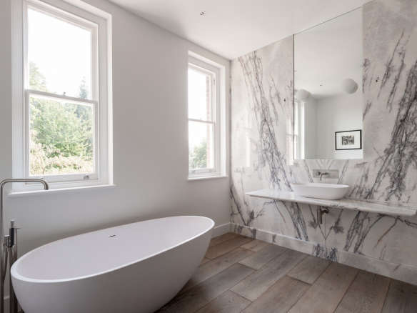 bathroom of the week in london a dramatic turkish marble bathroom for a design minded couple