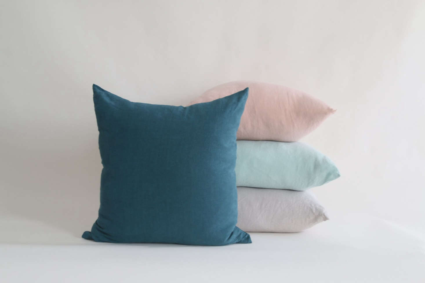 Mix-and-match Simple Linen Pillows from Hawkins NY.