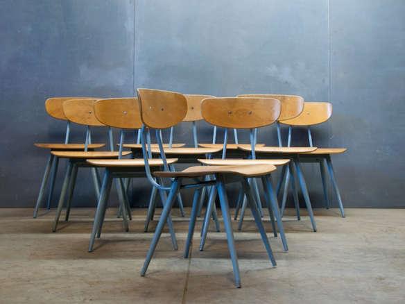 1940s Post War Modern Design Birch Steel Dining Chairs