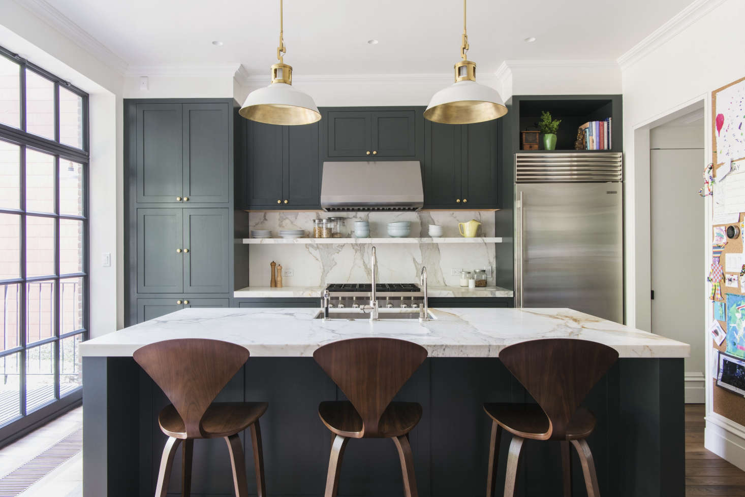Trend Alert Favorite TimeTested Dark Green Kitchens Remodelista - Green kitchen cabinets with black countertops