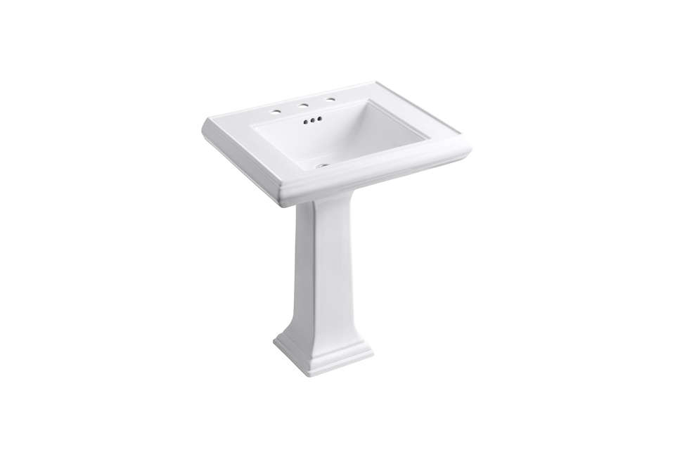 Kohler Memoirs Single Bowl Pedestal Fireclay Sink