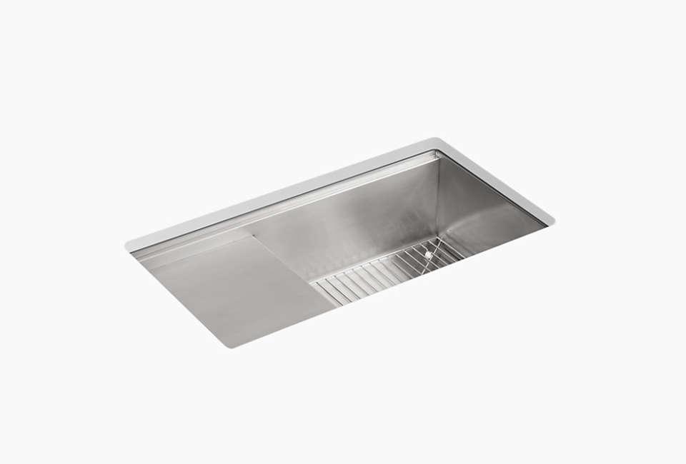 kohler stages undermount stainless steel kitchen sink