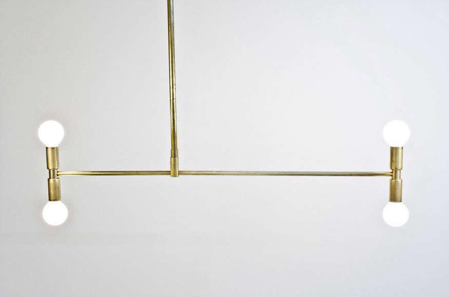 Meridian Brass Chandelier