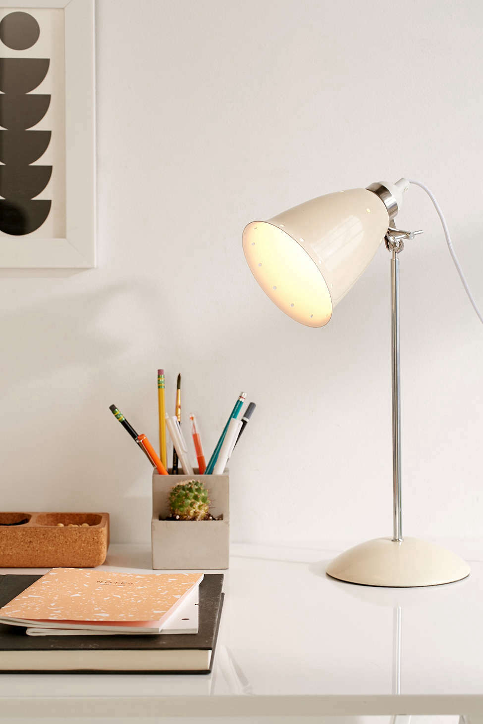 Urban Outfitters White Table Lamp