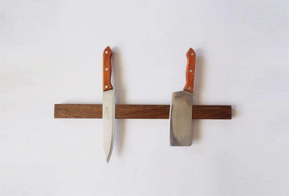 The Magnetic Knife Holder in walnut starts at $48 from Workshop Krona, a seller on Etsy based in Kharkiv, Ukraine.