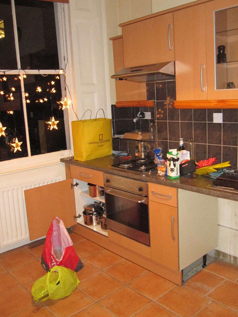 The kitchen had been fully replaced in recent decades.
