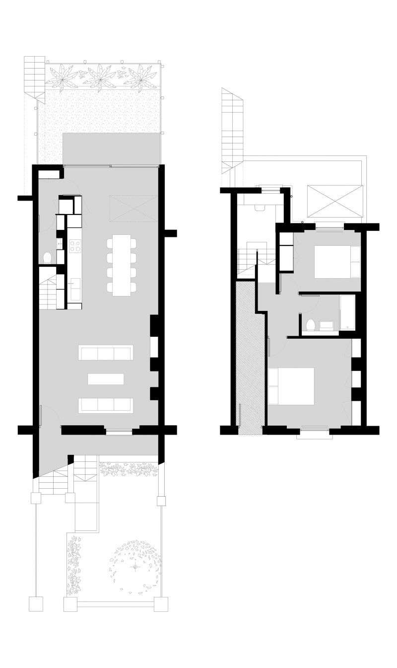 The new ground floor setup introduces space, natural light, and a link to the garden. The upstairs bedrooms benefit from the second floor&#8