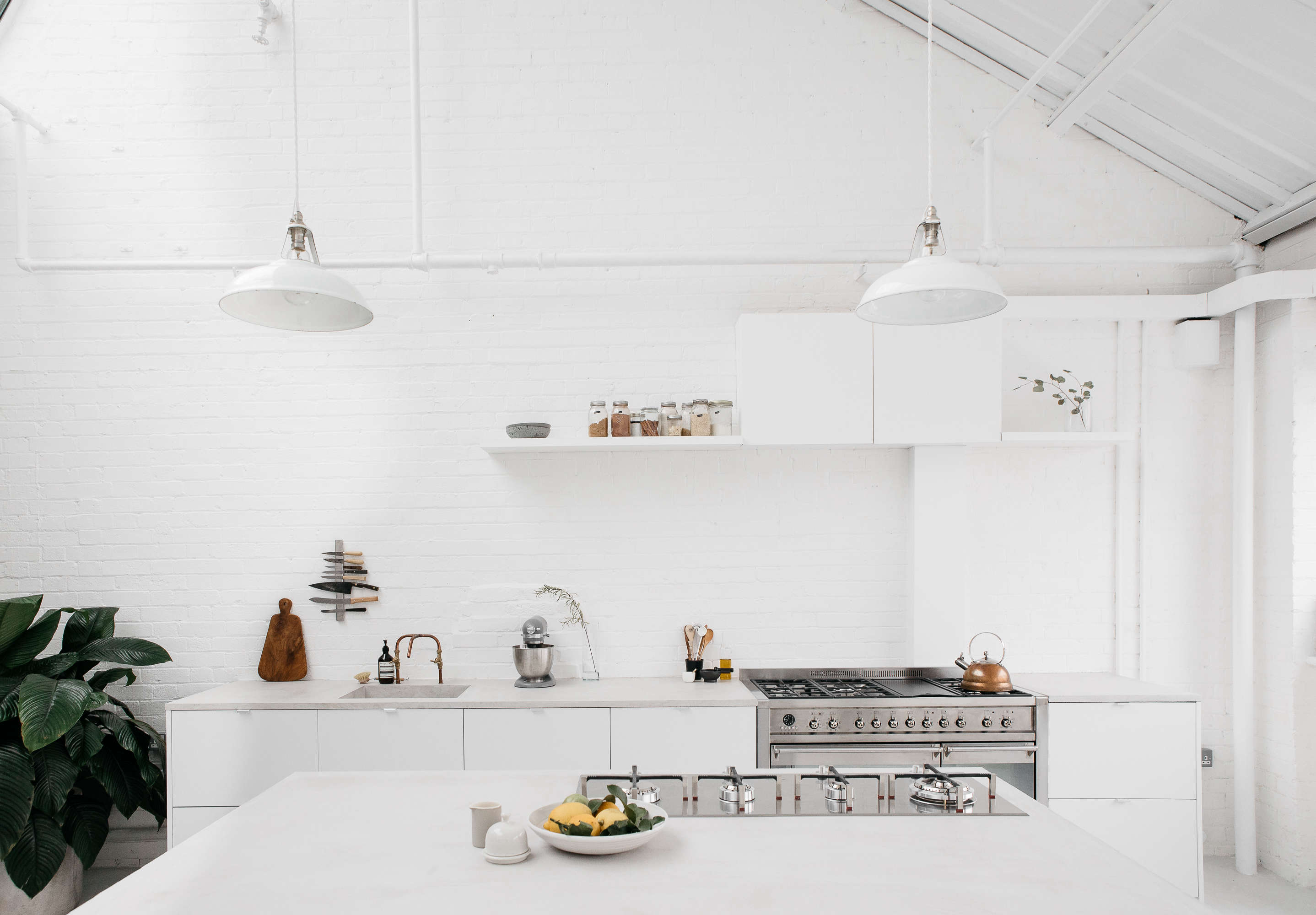 Steal This Look: All White Industrial Kitchen In London, Ikea Hacks Included