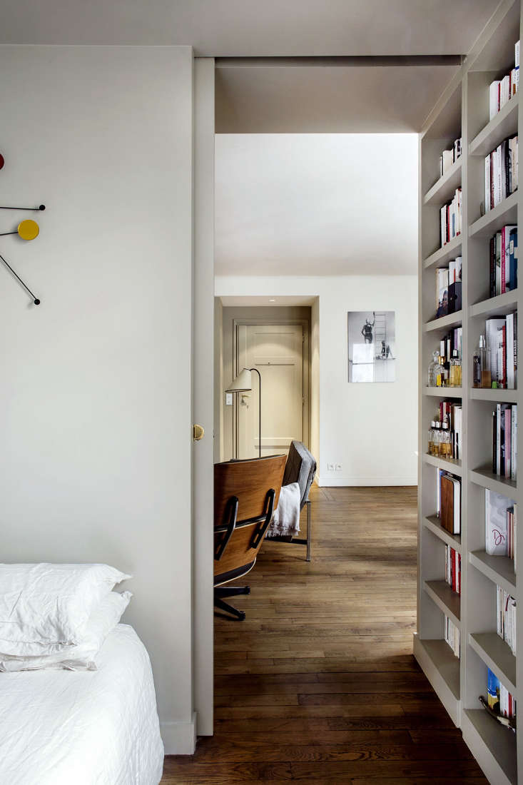 9 small space ideas to steal from a tiny paris apartment - Small apartment bedroom ideas ...