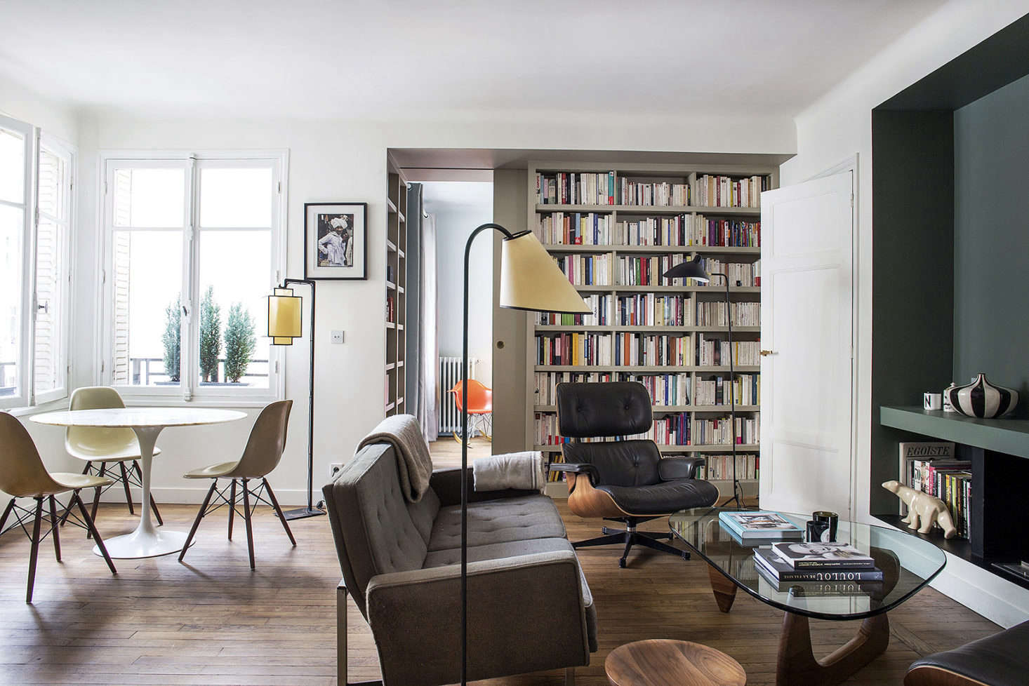 How to fit a dining table into a small living room? Neatly tucked into a & 9 Small-Space Ideas to Steal from a Tiny Paris Apartment