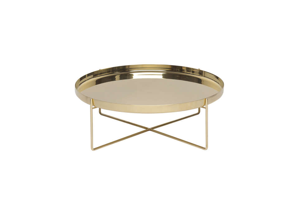 The e15 CM05 Habibi Side Table in Gold is £810 for the large size from Clippings. For more, see our post 10 Easy Pieces: Tray Tables.