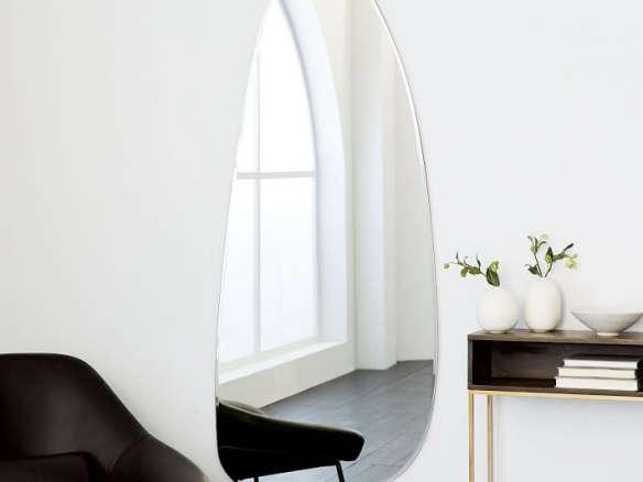 Frameless Asymmetrical Floor Mirror
