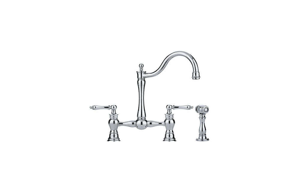 The Franke Bridge-Style Kitchen Faucet is $840 at Quality Bath.
