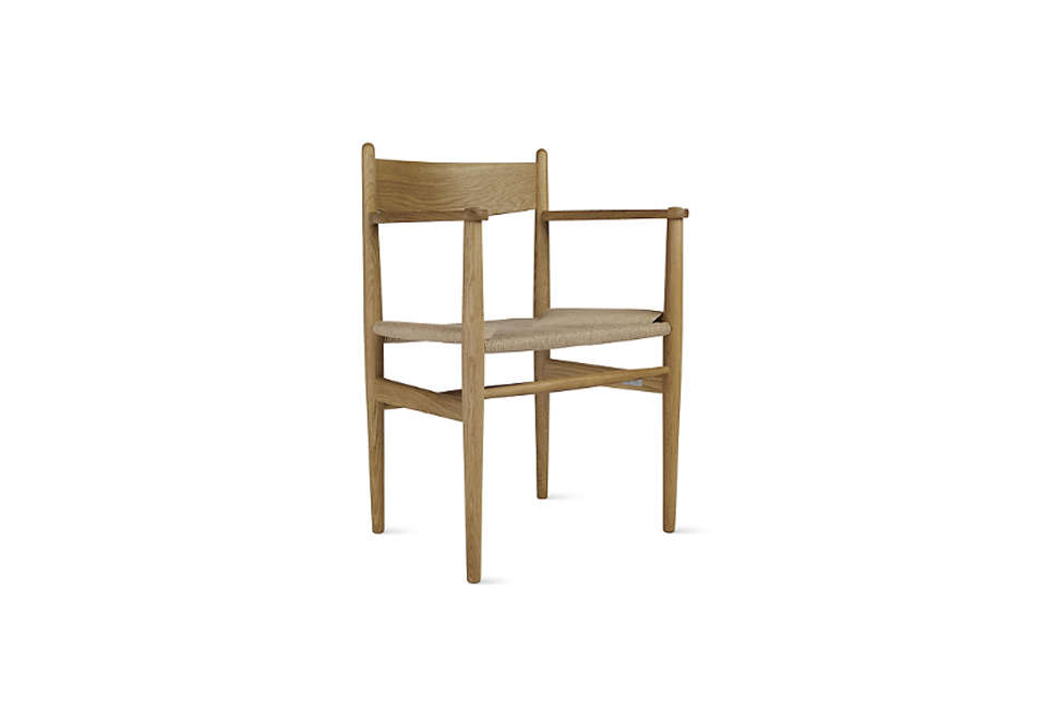 TheHans Wegner CH37 Armchair in oiled oak is $1,070 at Design Within Reach.