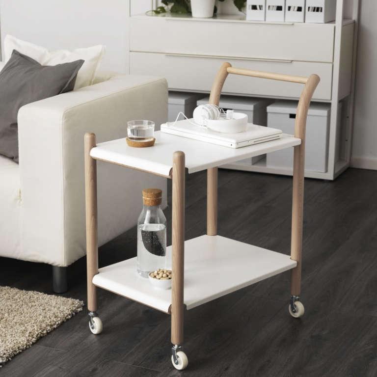 ikea ps 2017 side table on castors. Black Bedroom Furniture Sets. Home Design Ideas