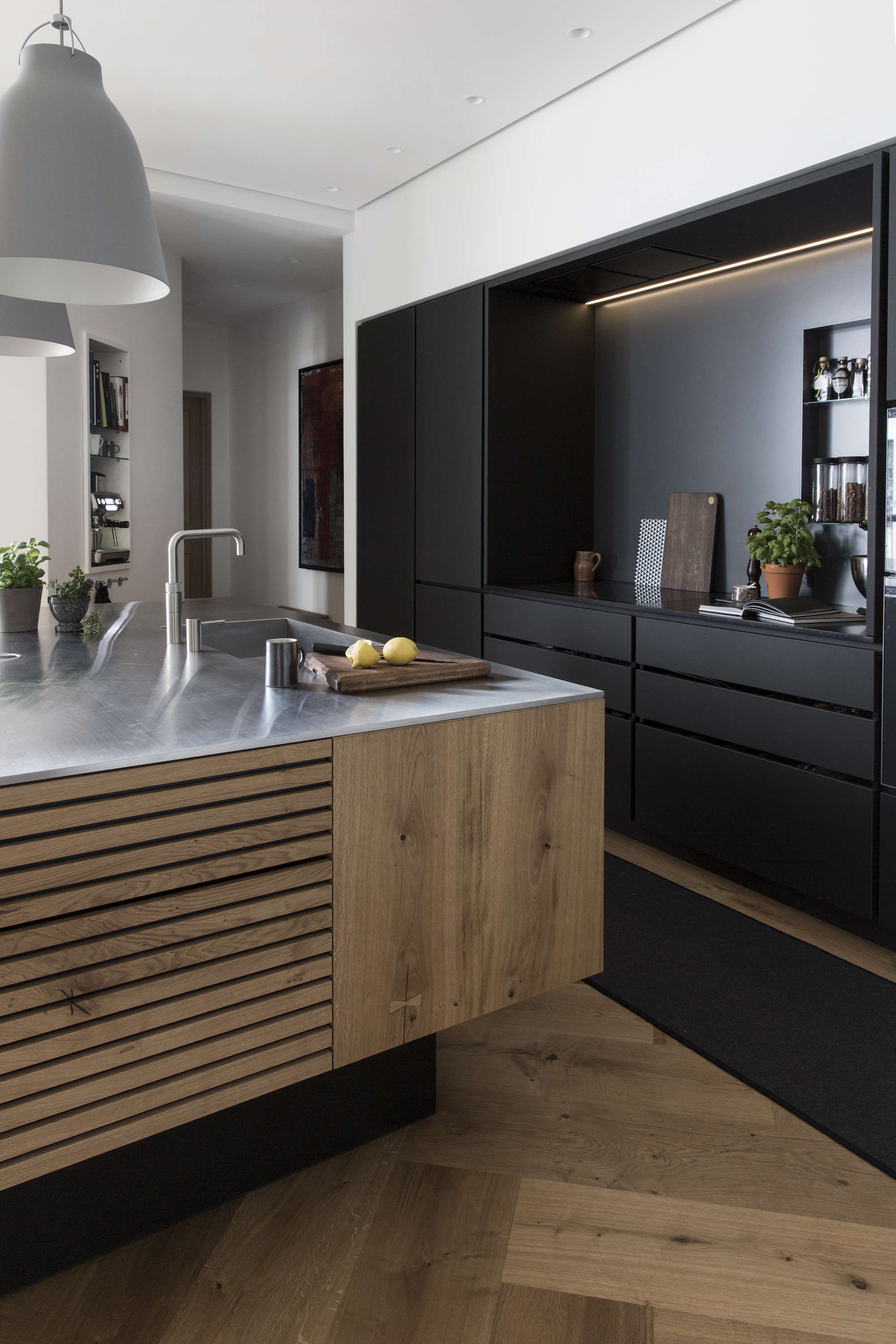 kitchen of the week a culinary space in copenhagen by. Black Bedroom Furniture Sets. Home Design Ideas