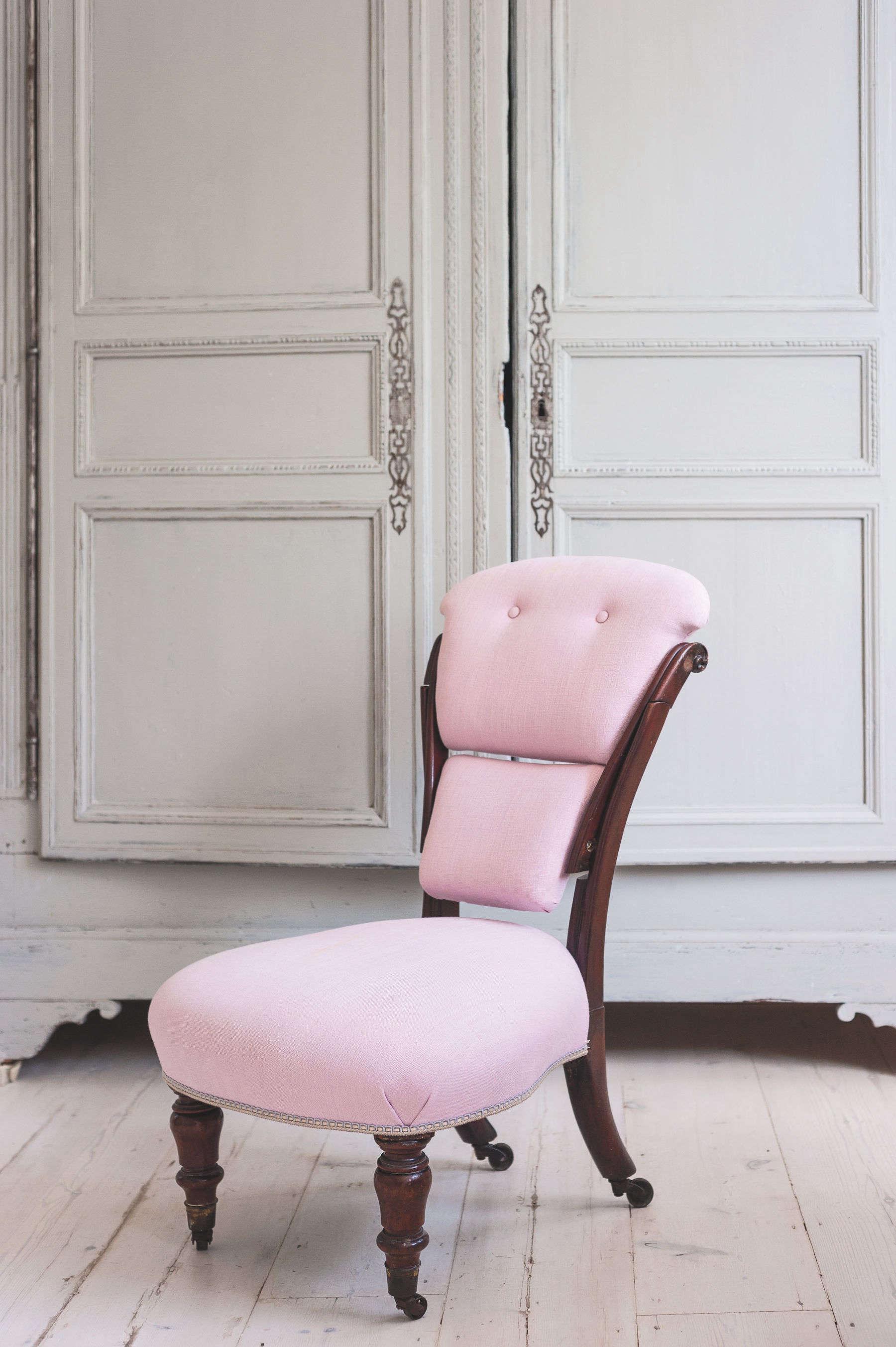 pink-upholstered-chair-michelle-mckenna-bathroom-uk