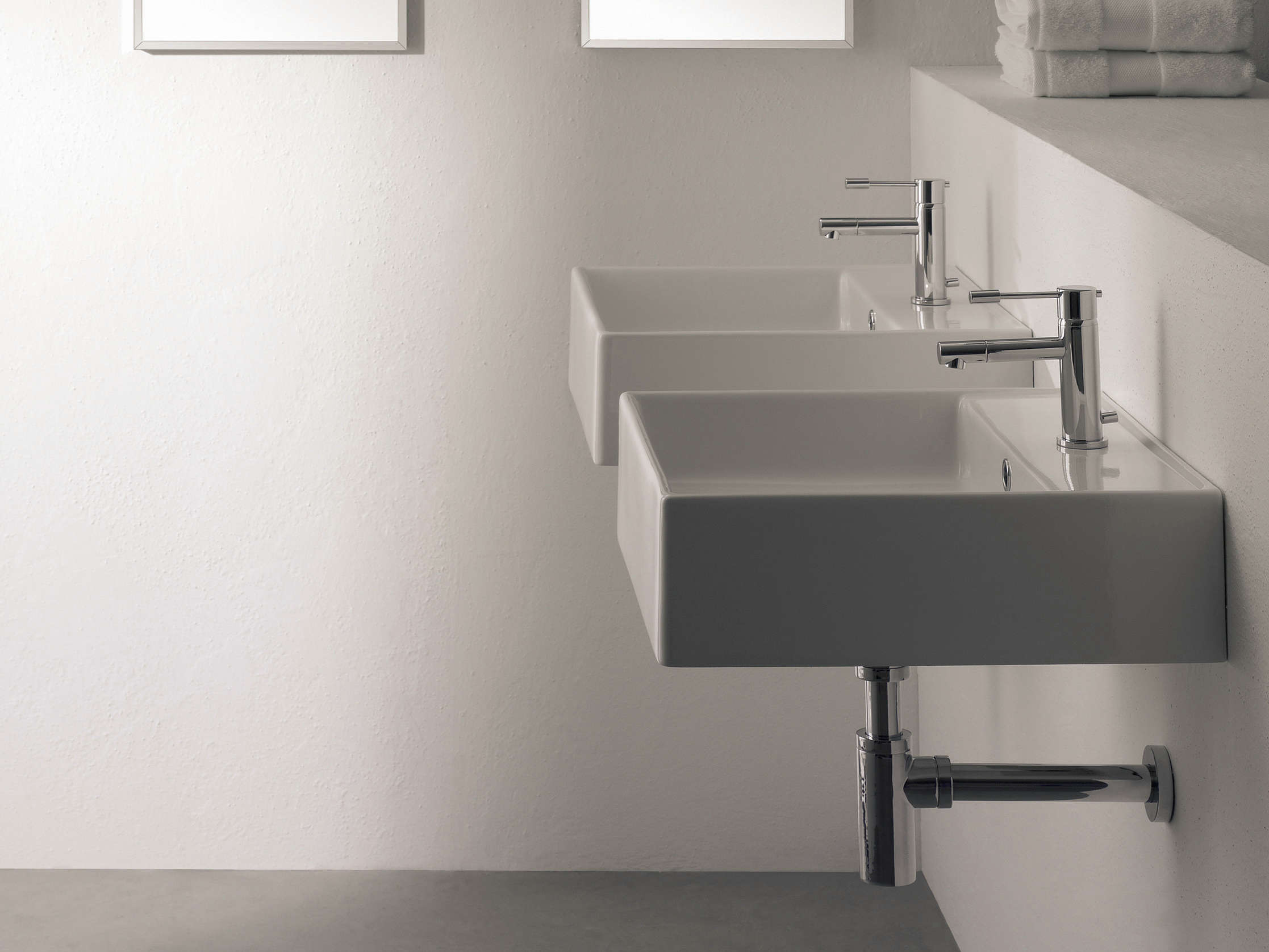 scarabeo thin line wallmounted ceramic washbasin