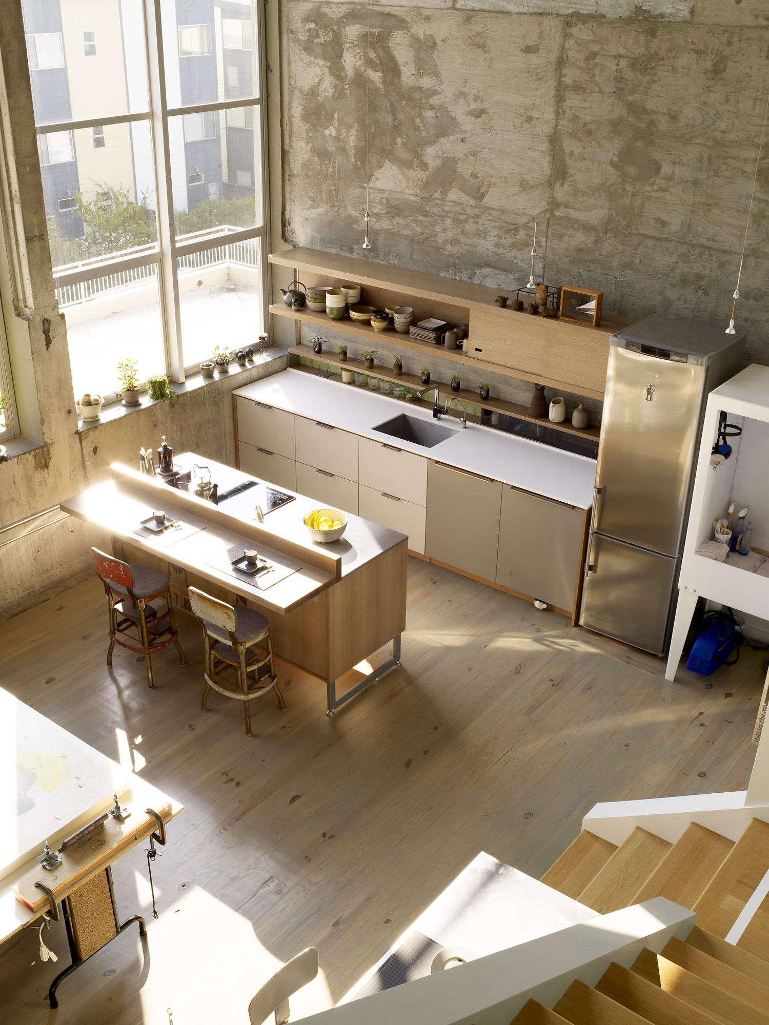 Artist Loft: Kitchen Of The Week: A Modern Live/Work Kitchen For An