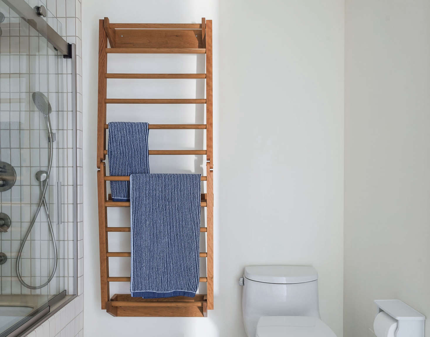 Cute A custom towel and drying rack hangs on a wall Requested as a solution for