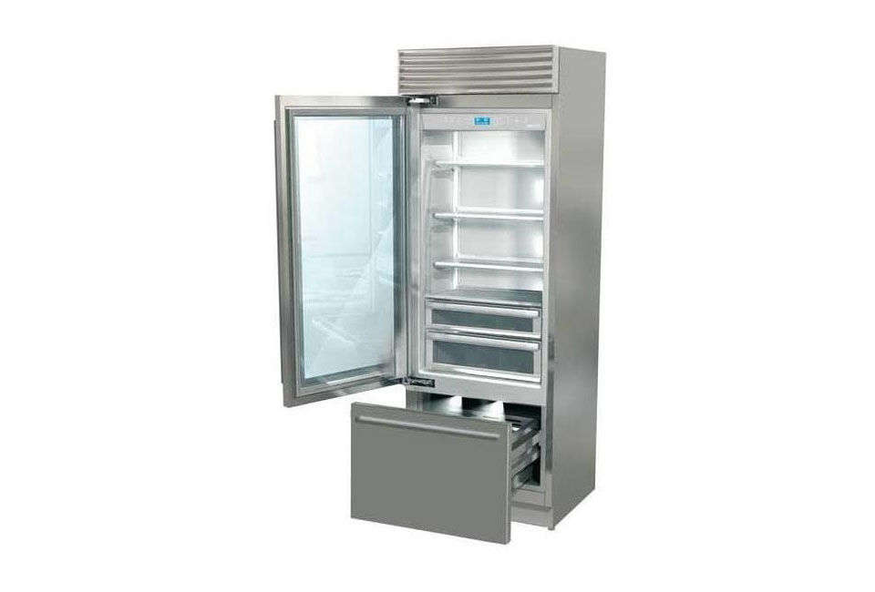italian fhiaba 36 inch pro fridge with glass doors is 6273 at watershed appliances - Refridgerator Glass Door