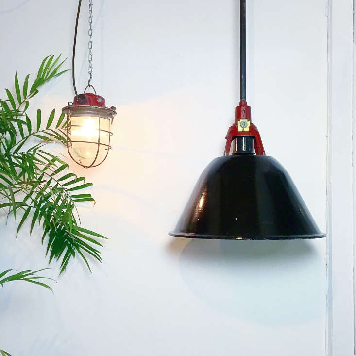 Vintage German Industrial Factory Explosion Proof Light Lamp Wall Ceiling Light