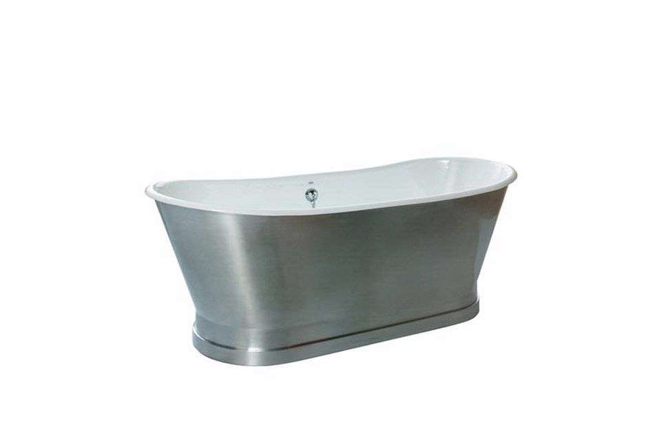 10 Easy Pieces: Silver Finish Freestanding Bathtubs - Remodelista
