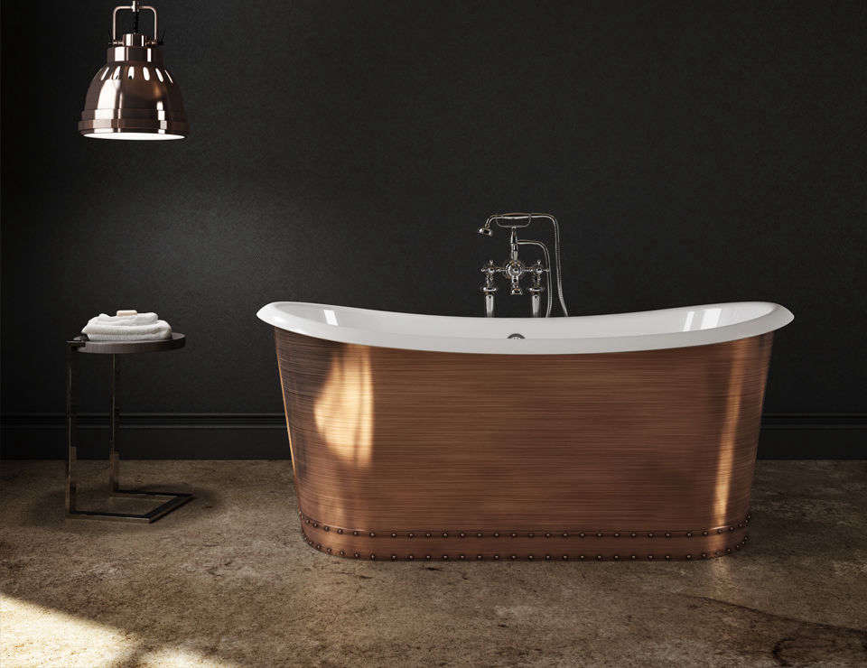 The Slik Portfolio Copper Tub Is A Cast Iron Tub With An Enamel Inner And
