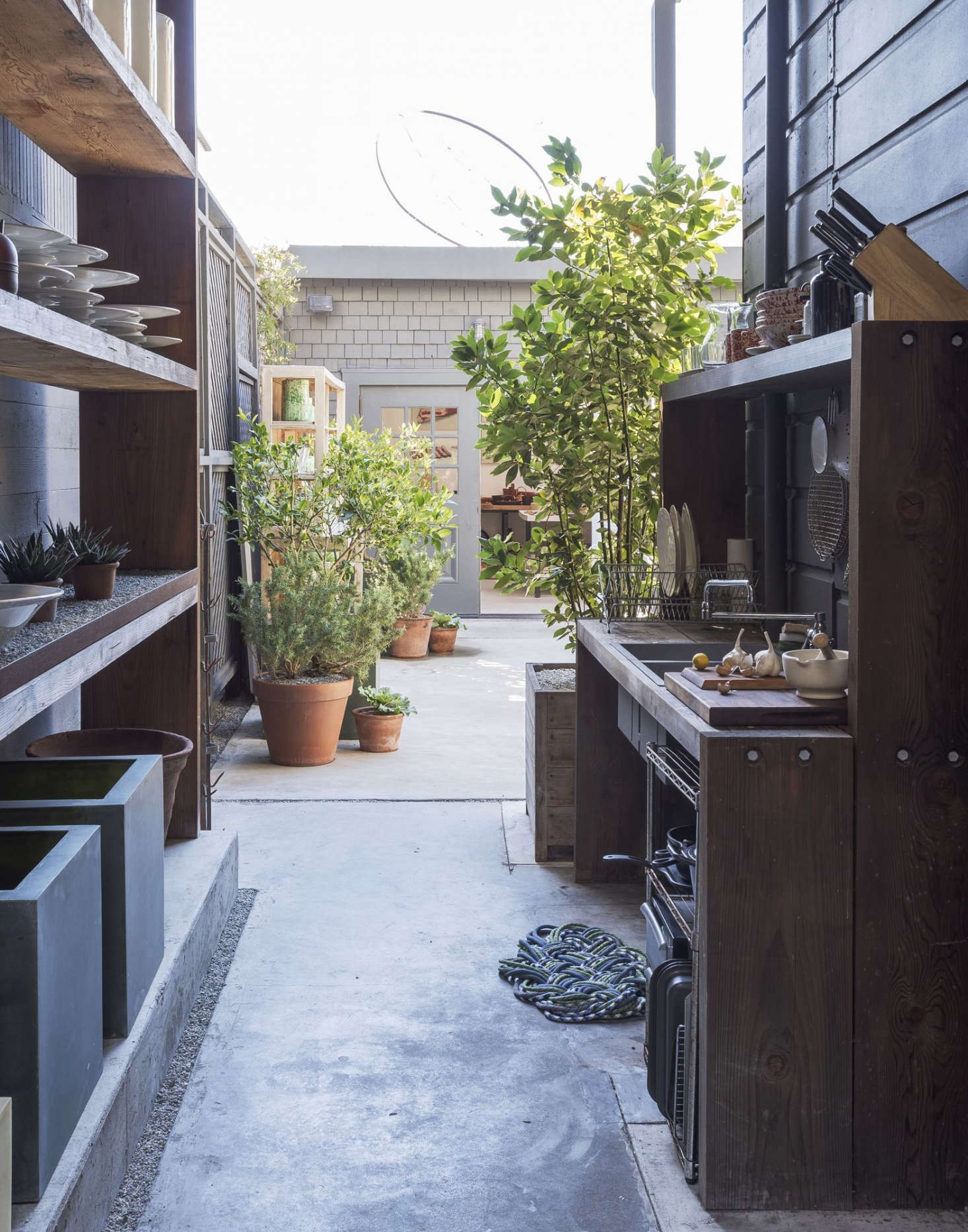 Popular We like this open air kitchen with plenty of all purpose shelving at March