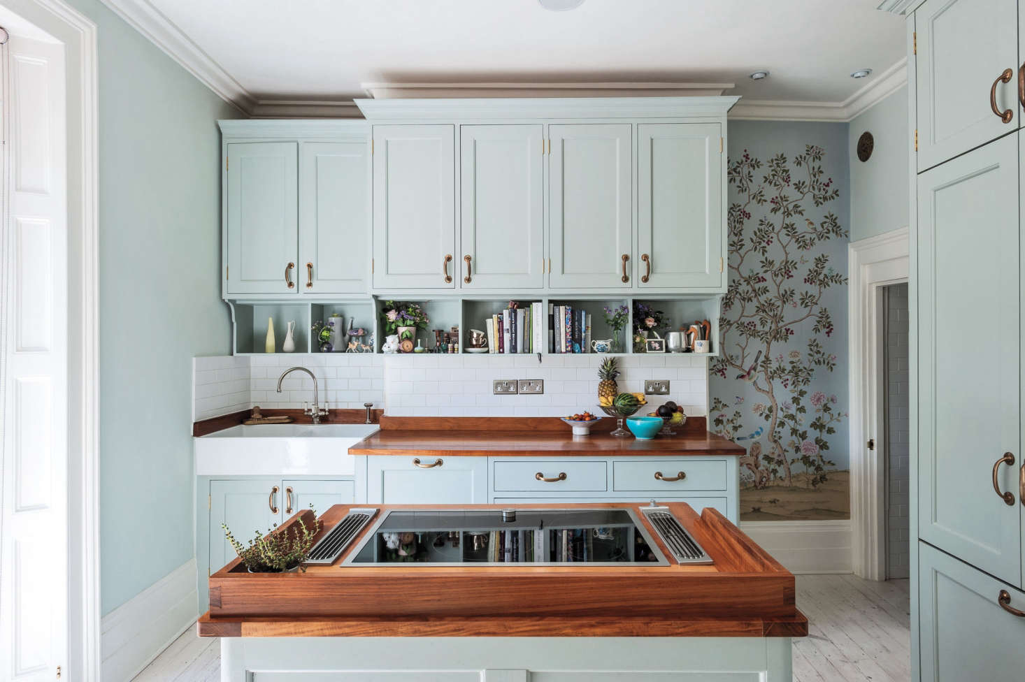 Michelle Mckenna S London Kitchen Features Walls Of Fromental Chinoiserie Wallpaper Photograph By Matthew Williams For