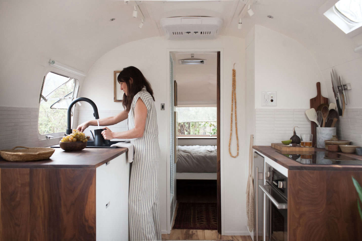 Steal This Look A Compact Kitchen In A Vintage Airstream