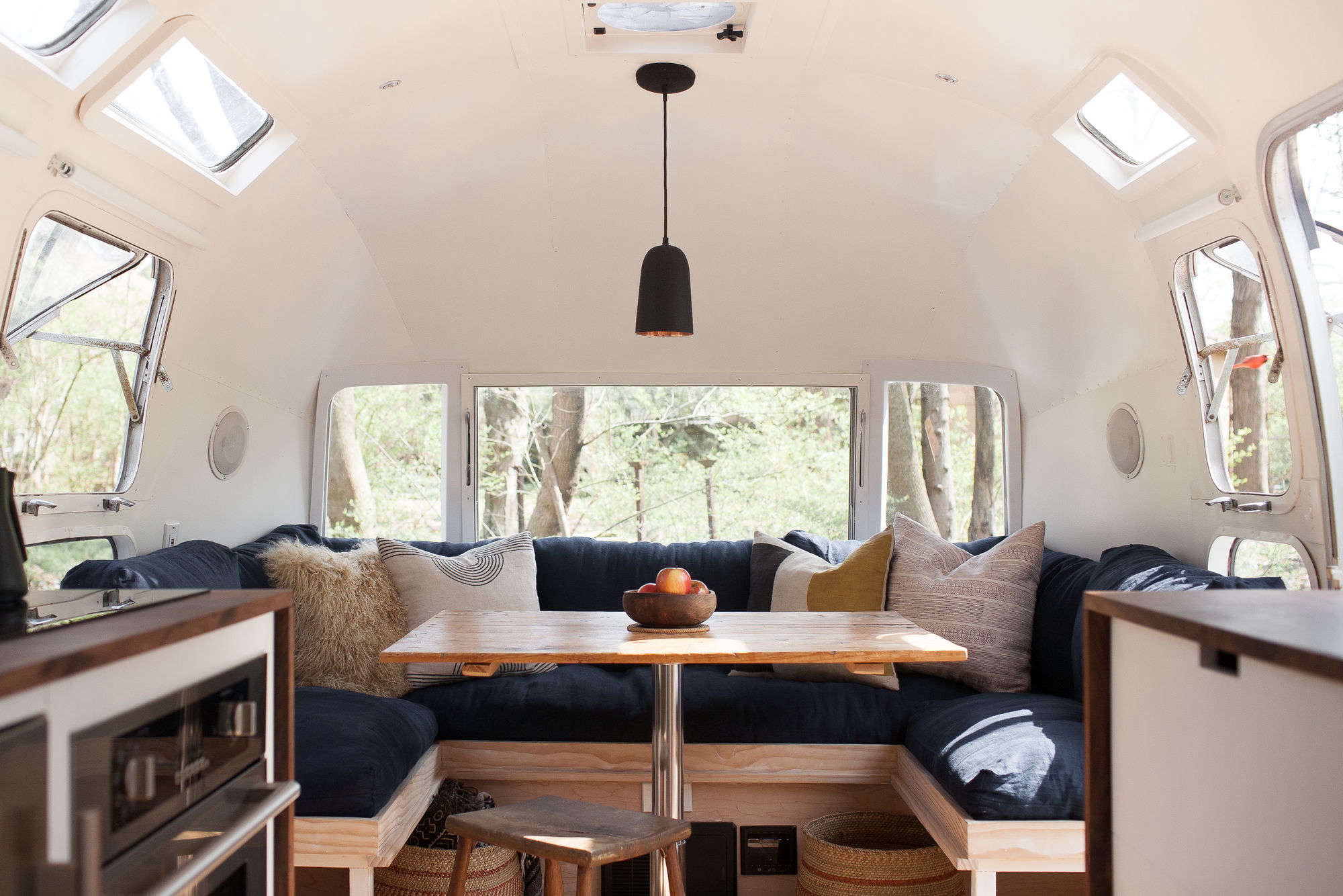 Vintage airstream custom built for modern living on the go