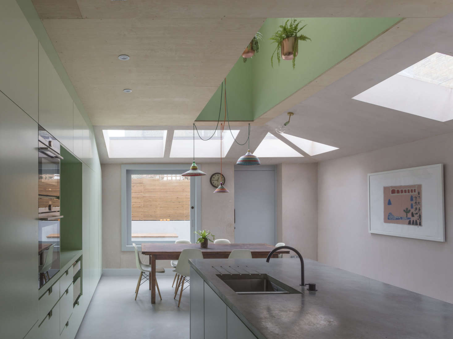 The Architects Designed The Kitchen With Green Spray Painted MDF: U201cItu0027s  Less Expensive