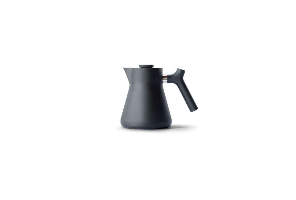 The Raven Stovetop Kettle & Tea Steeper in matte black is $79 from Fellow.