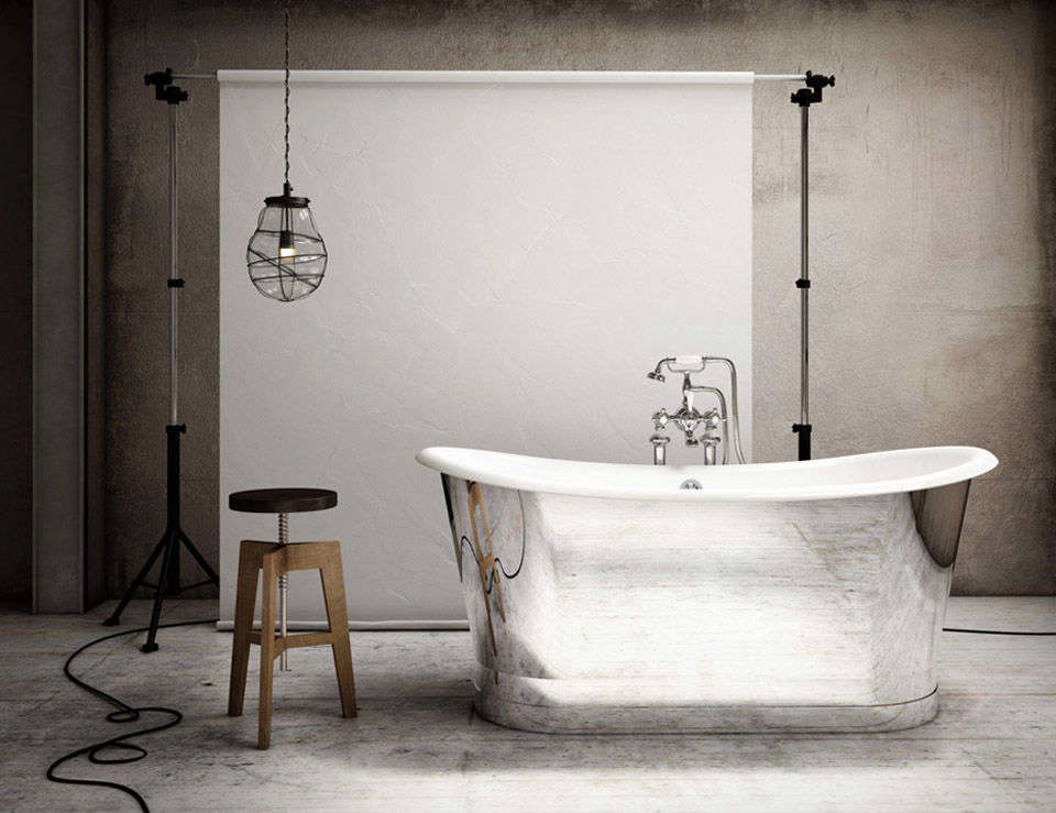 10 Easy Pieces Silver Finish Freestanding Bathtubs