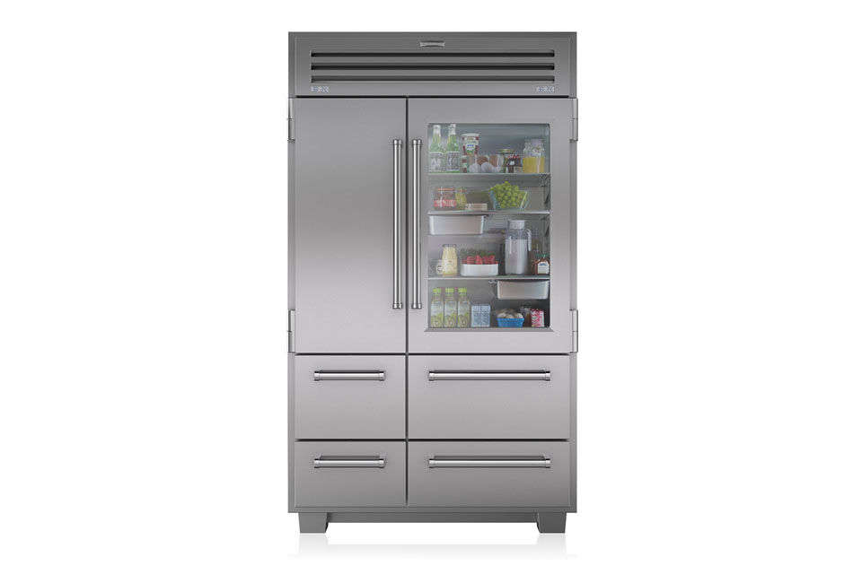 The Sub-Zero 48-Inch Built-In Side-by-Side Refrigerator is available at AJ Madison.