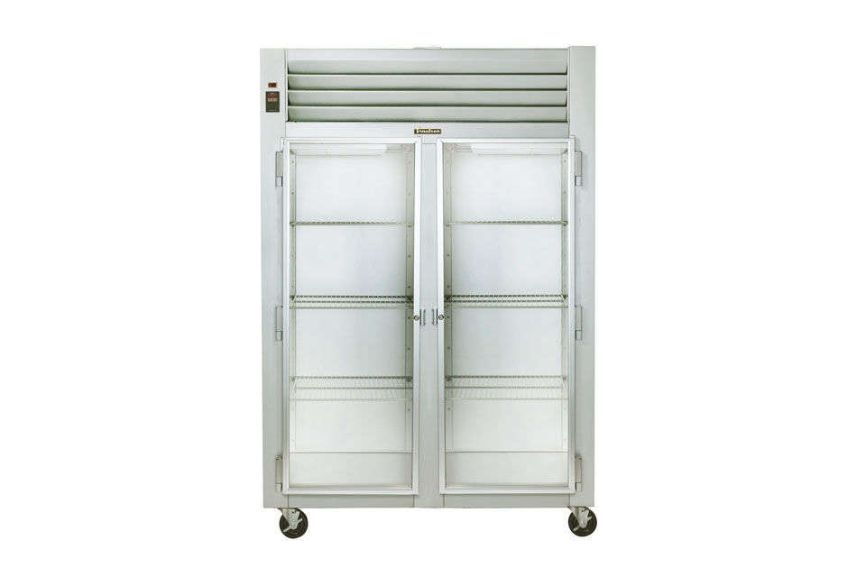 The Traulsen 2 Section Glass Door Reach-In Refrigerator is $4,587 at Webstaurant Store.