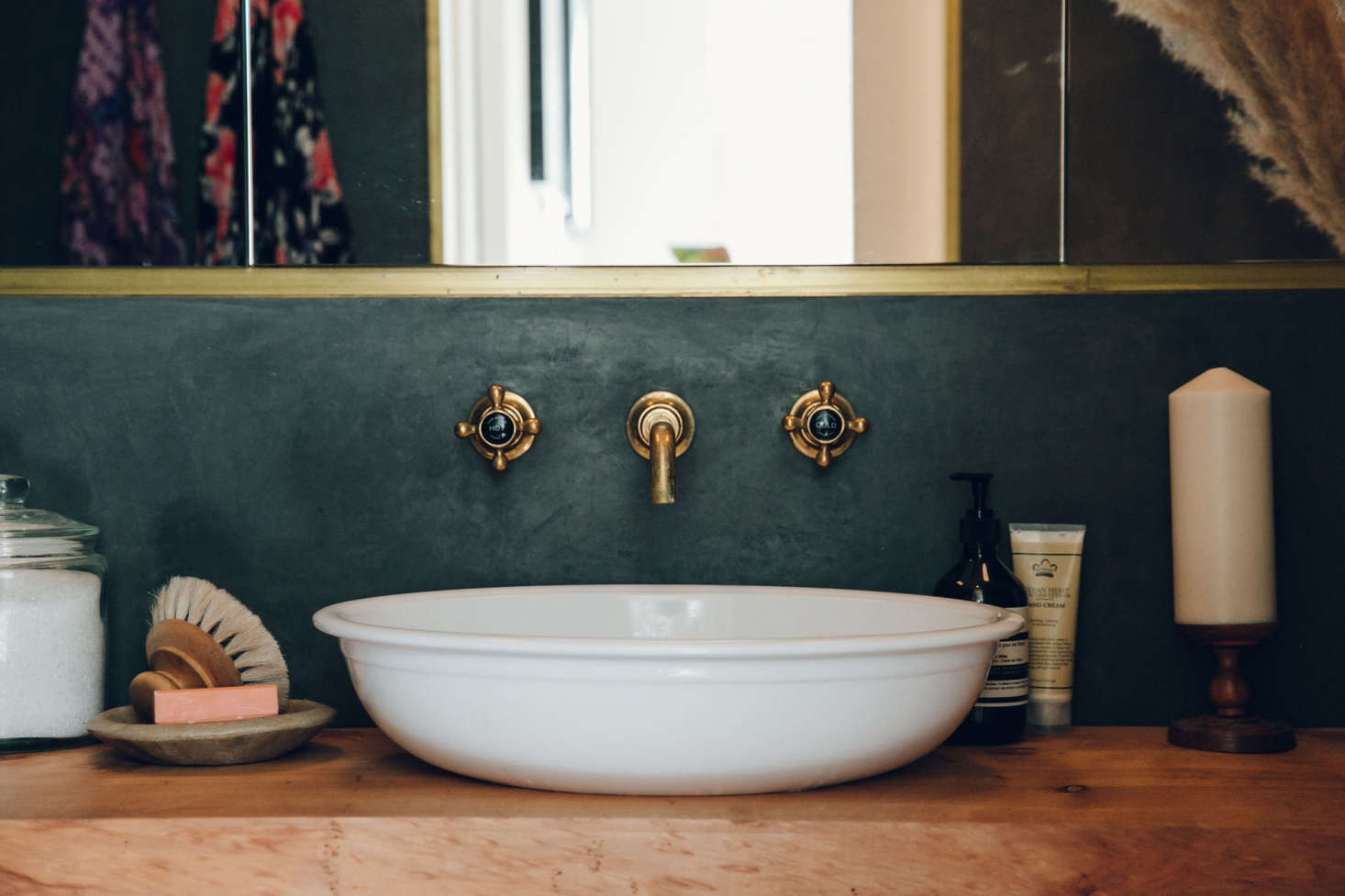 A Radford 51 sink made of limestone and resinfrom Victoria &Albert.