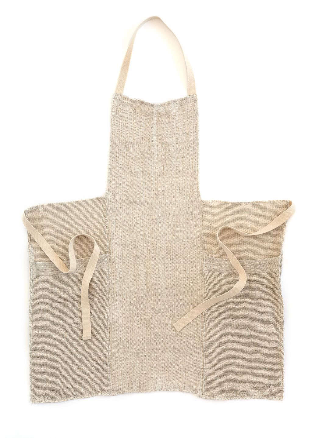 The third color in this style is a Natural Stripes Apron; $168.