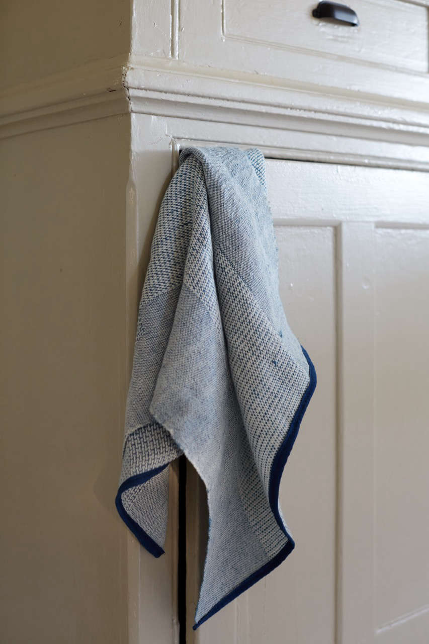 Though currently sold out on her website, Sin's Indigo Hand Towel is available at KCollette; $56.