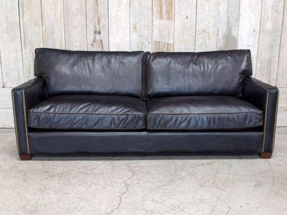 Great Four Hands Larkin Old Saddle Black Sofa