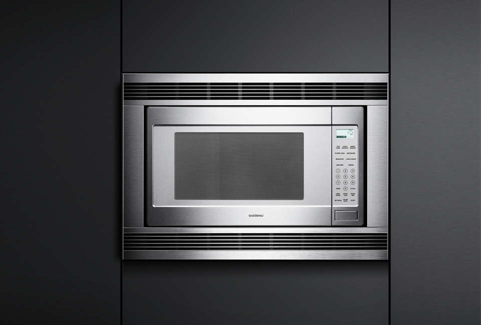 The Gaggenau 200 Series 2 1 Cubic Foot Built In Microwave Oven Is Available At Aj